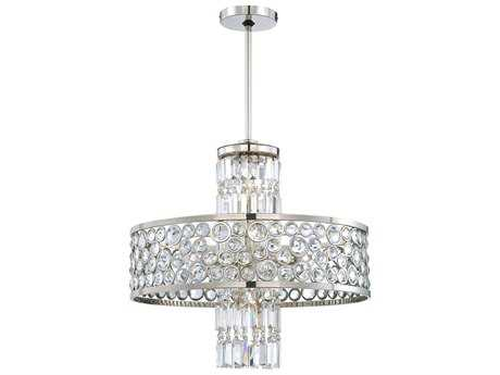 Metropolitan Lighting Magique Polished Nickel Seven-Lights 24'' Wide Chandelier METN6759613