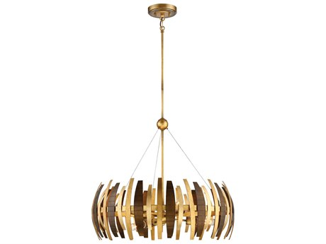 Metropolitan Lighting Manitou Ardor Gold Six-Light 29'' Wide Pendant Light