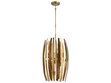 Metropolitan Lighting Manitou Ardor Gold Eight-Light 17'' Wide Pendant Light METN7838659