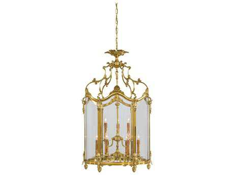 Metropolitan Lighting French Gold Nine-Lights 23'' Wide Pendant Light METN2334
