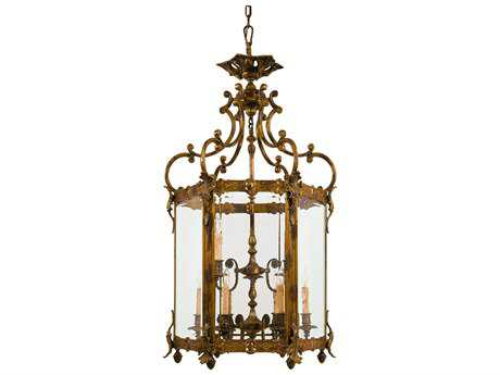 Metropolitan Lighting Antique Bronze Patina Nine-Lights 26'' Wide Pendant Light