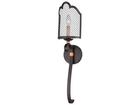 Metropolitan Lighting Romance French Bronze with Gold Highlight Wall Sconce METN7100258B