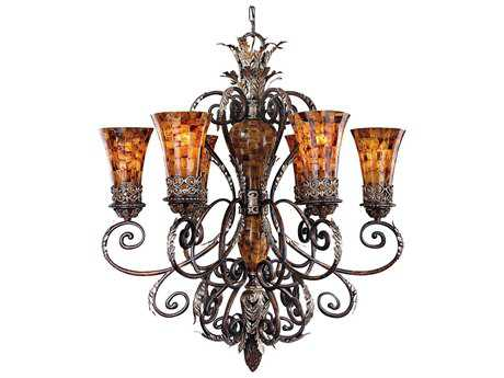 Metropolitan Lighting Salamanca Cattera Bronze Six-Lights 34'' Wide Chandelier METN6516468