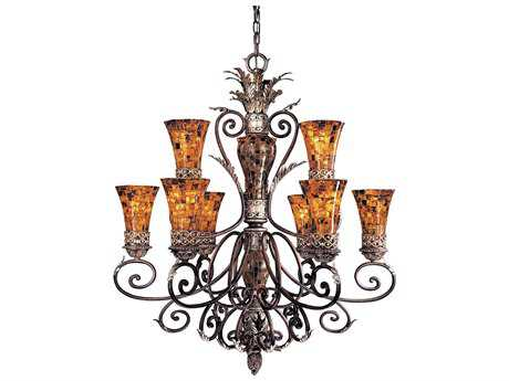 Metropolitan Lighting Salamanca Cattera Bronze Nine-Lights 40'' Wide Grand Chandelier METN6518468