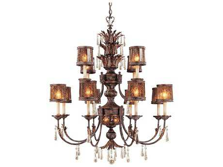 Metropolitan Lighting Sanguesa Patina 14-Lights 42'' Wide Grand Chandelier METN6079194