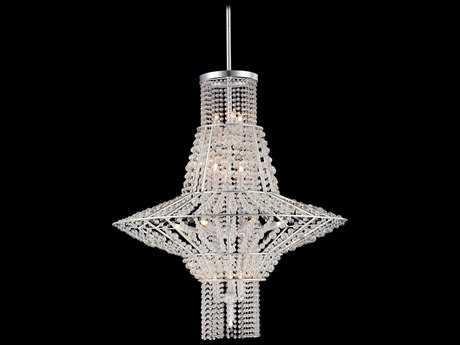 Metropolitan Lighting Saybrook Catalina Silver with Glass Beads 16-Lights 28'' Wide Chandelier METN7316598