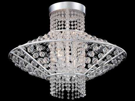 Metropolitan Lighting Saybrook Catalina Silver with Glass Beads Four-Lights 18'' Wide Semi-Flush Mount Light METN7304598