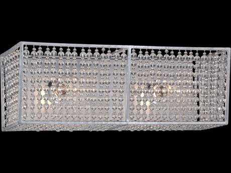 Metropolitan Lighting Saybrook Catalina Silver with Glass Beads Two-Lights Vanity Light METN2732598