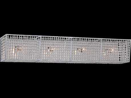 Metropolitan Lighting Saybrook Catalina Silver with Glass Beads Four-Lights Vanity Light metn2734598