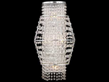 Metropolitan Lighting Saybrook Catalina Silver with Glass Beads Two-Lights Wall Sconce METN7302598