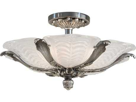Metropolitan Lighting Platinum Six-Lights 27'' Wide Semi-Flush Mount Light METN95049554B