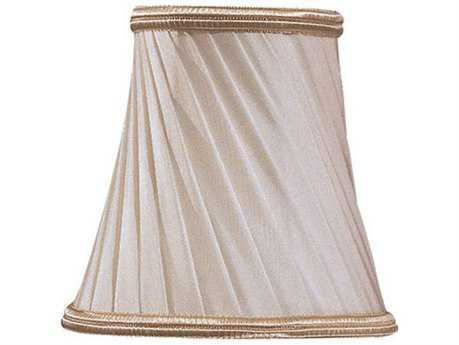 Metropolitan Lighting Eggshell Twist & Gold Trim Shade METSH1929