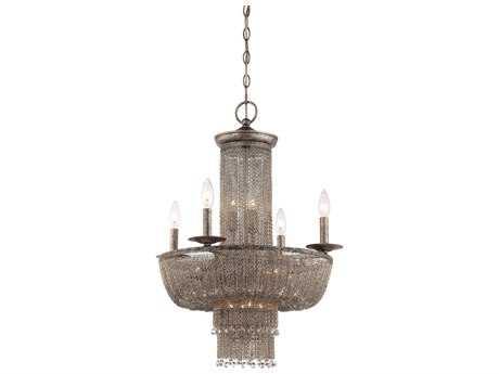 Metropolitan Lighting Shimmering Falls Antique Silver 15-Lights 21'' Wide Chandelier METN7215578