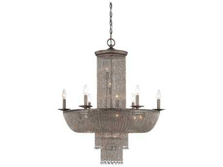Metropolitan Lighting Shimmering Falls Antique Silver 16-Lights 31.5'' Wide Chandelier METN7216578