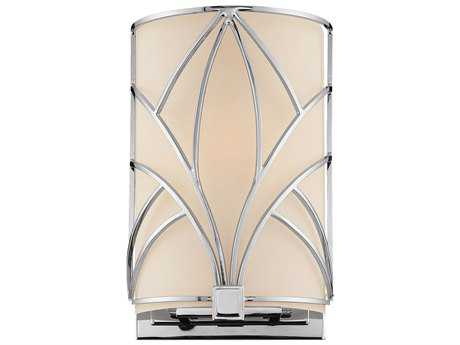 Metropolitan Lighting Storyboard Chrome with Etched White Glass Wall Sconce METN292177