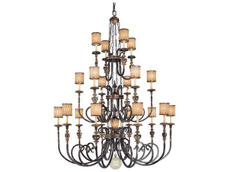 Metropolitan Lighting Terraza Villa Aged Patina with Gold Leaf Accents 11-Lights 68'' Wide Grand Chandelier METN6487270