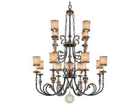 Metropolitan Lighting Terraza Villa Aged Patina with Gold Leaf Accents 13-Lights 54'' Wide Grand Chandelier METN6499270
