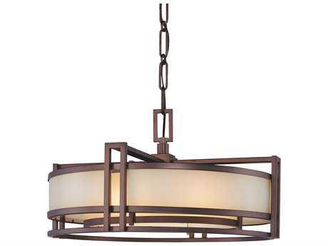 Metropolitan Lighting Underscore Cimarron Bronze Three-Lights 24'' Wide Pendant Light METN6963267B