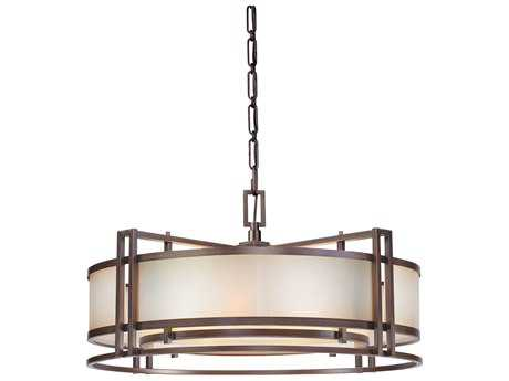 Metropolitan Lighting Underscore Cimarron Bronze Four-Lights 30'' Wide Pendant Light METN6965267B