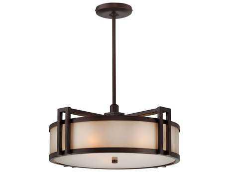 Metropolitan Lighting Underscore Cimarron Bronze Three-Lights 18'' Wide Pendant Light METN6966267B