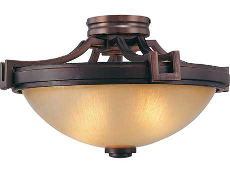 Metropolitan Lighting Underscore Cimarron Bronze Two-Lights 16.5'' Wide Semi-Flush Mount Light METN6960267B