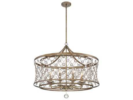 Metropolitan Lighting Vel Catena Arcadian Gold Eight-Light 32'' Wide Chandelier METN6585272