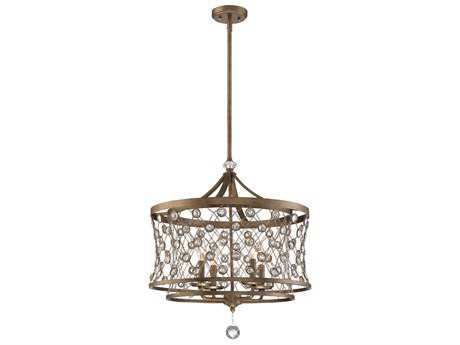 Metropolitan Lighting Vel Catena Arcadian Gold Four-Light 22'' Wide Mini Chandelier