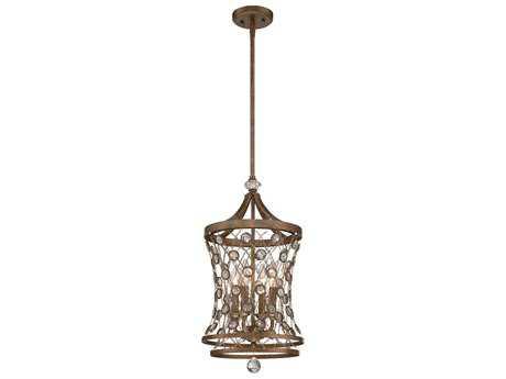 Metropolitan Lighting Vel Catena Arcadian Gold Four-Lights 12'' Wide Pendant Light