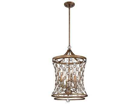 Metropolitan Lighting Vel Catena Arcadian Gold Six-Lights 16'' Wide Pendant Light METN6586272