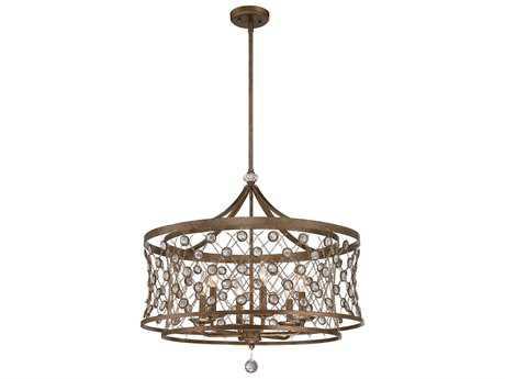 Metropolitan Lighting Vel Catena Arcadian Gold Six-Lights 27'' Wide Pendant Light METN6587272