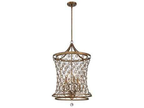 Metropolitan Lighting Vel Catena Arcadian Gold Eight-Lights 20'' Wide Pendant Light METN6588272