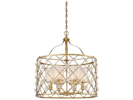 Metropolitan Lighting Victoria Park Elara Gold Six-Light 27'' Wide Chandelier METN6566596