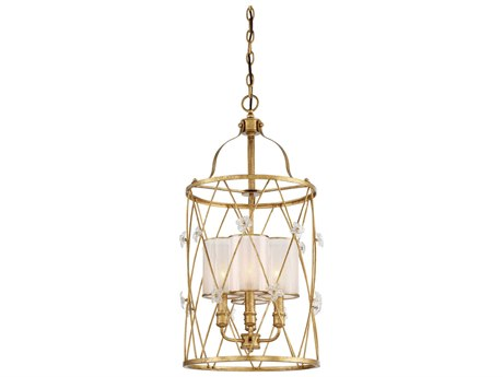 Metropolitan Lighting Victoria Park Elara Gold Three-Light 15'' Wide Mini Chandelier METN6562596