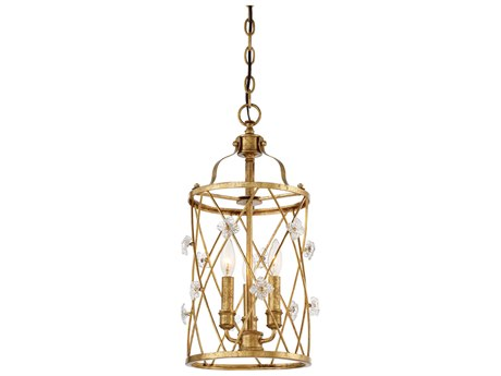 Metropolitan Lighting Victoria Park Elara Gold Three-Light 11'' Wide Mini Chandelier METN6563596