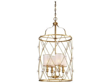 Metropolitan Lighting Victoria Park Elara Gold Four-Light 20'' Wide Mini Chandelier METN6564596
