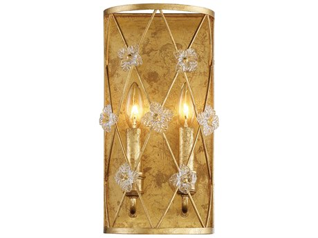 Metropolitan Lighting Victoria Park Elara Gold Two-Light Wall Sconce METN6561596