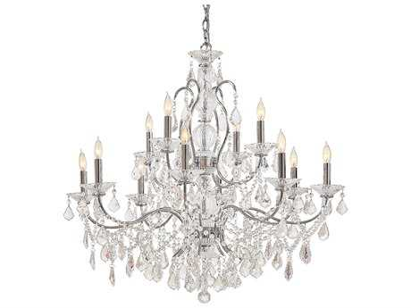 Metropolitan Lighting Vintage Chrome 12-Lights 34.5'' Wide Chandelier METN8008