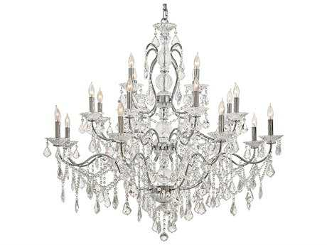 Metropolitan Lighting Vintage Chrome 20-Lights 45'' Wide Grand Chandelier METN8009