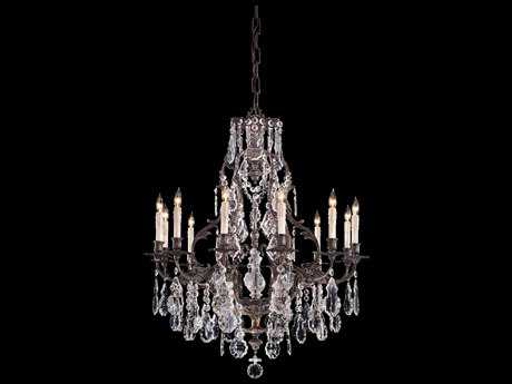 Metropolitan Lighting Vintage Oxidized Brass 12-Lights 33'' Wide Grand Chandelier METN950201