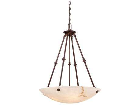 Metropolitan Lighting Virtuoso II Bronze Patina Five-Lights 27'' Wide Pendant Light METN3705BP