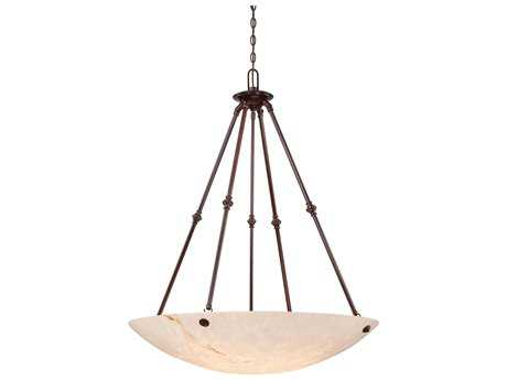 Metropolitan Lighting Virtuoso II Bronze Patina Six-Lights 35'' Wide Pendant Light METN3706BP