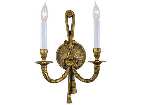 Metropolitan Lighting French Gold Two-Lights Wall Sconce METN681B