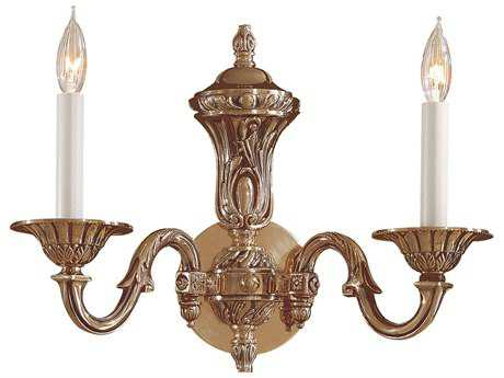 Metropolitan Lighting Antique Classic Brass Two-Lights Wall Sconce METN700202