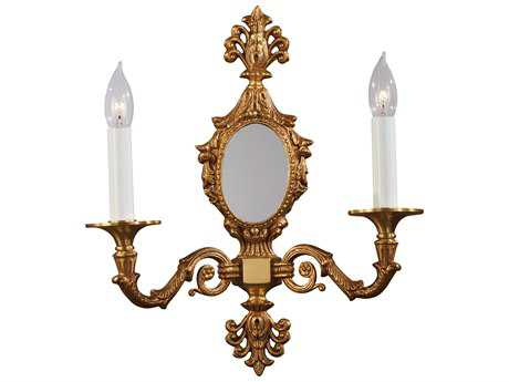 Metropolitan Lighting French Gold Two-Light Wall Sconce