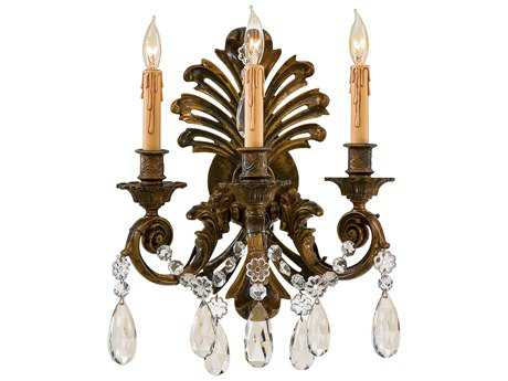 Metropolitan Lighting Oxidized Brass Three-Lights Wall Sconce METN952013