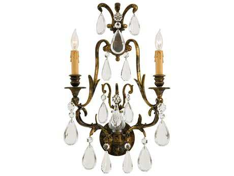 Metropolitan Lighting Oxidized Brass Two-Lights Wall Sconce METN952115