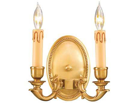 Metropolitan Lighting French Gold Two-Lights Wall Sconce METN9809FG