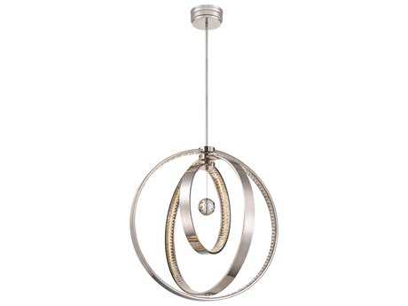 Metropolitan Lighting Winter Solstice Polished Nickel 310-Lights 28'' Wide LED Pendant Light METN6995613L