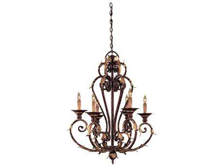 Metropolitan Lighting Zaragoza Golden Bronze Six-Lights 27'' Wide Chandelier METN6235355