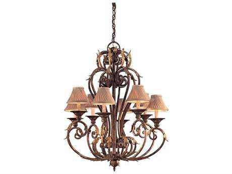 Metropolitan Lighting Zaragoza Golden Bronze Eight-Lights 34'' Wide Chandelier METN6238355